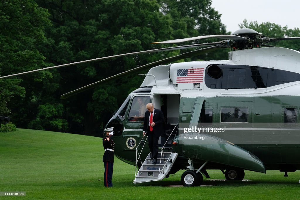 DC: President Trump Arrives To White House After New York Travel