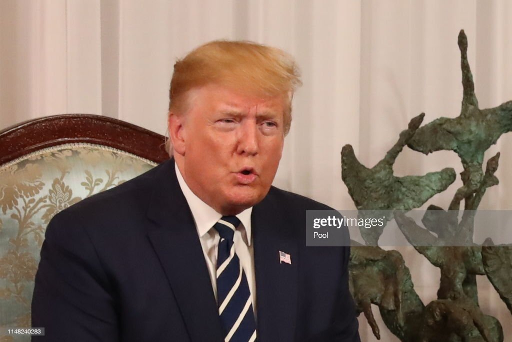 President Trump Arrives In Ireland Following UK State Visit : News Photo