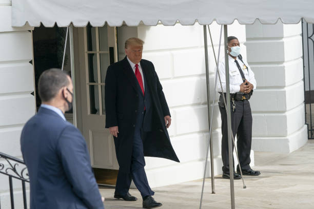 DC: President Trump Departs White House For Michigan