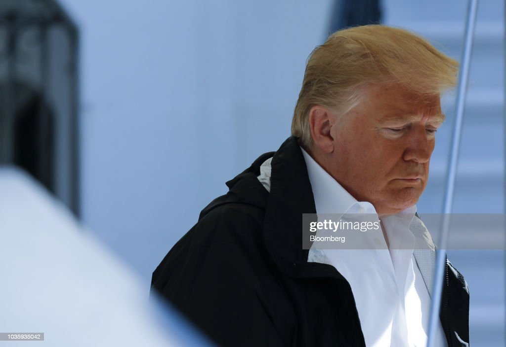 President Trump Departs White House For North Carolina