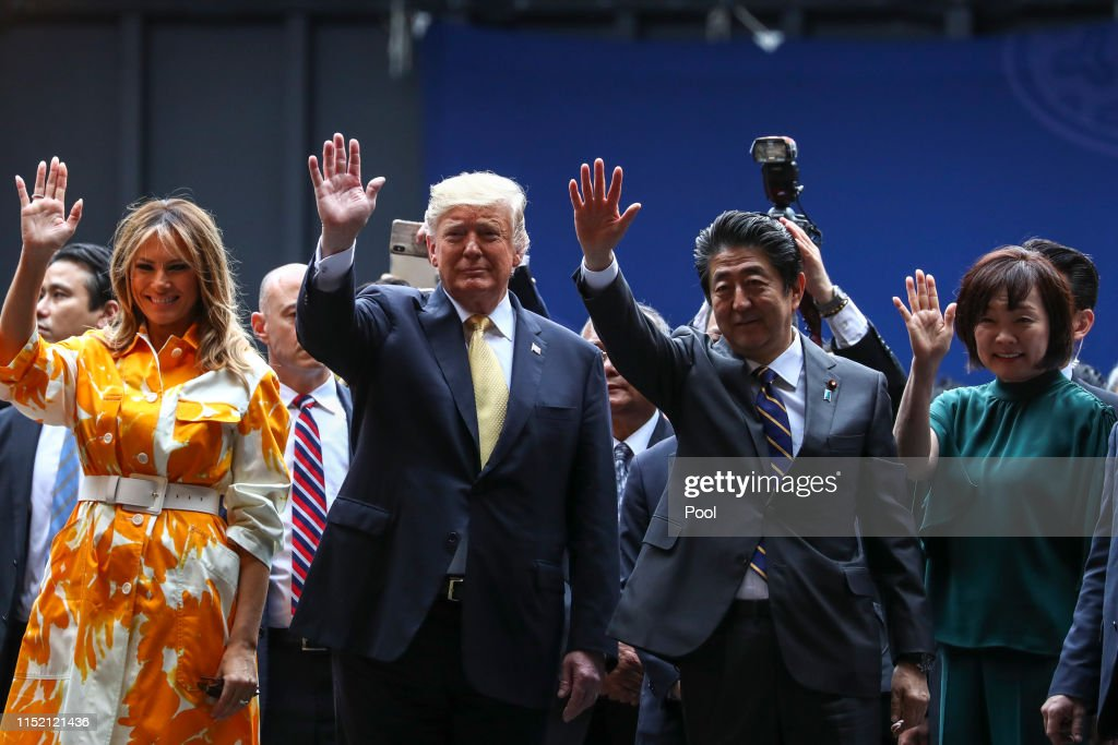 U.S. President Trump Makes State Visit To Japan : ニュース写真