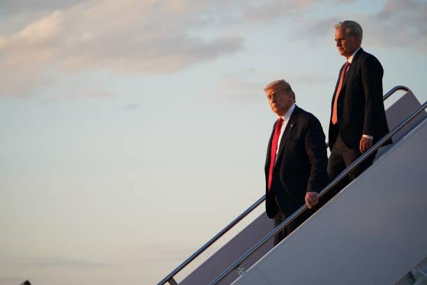 DC: President Trump Returns To The White House