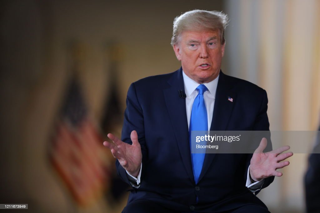 Fox News Holds Town Hall With President Trump At Lincoln Memorial : News Photo