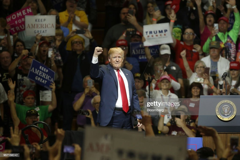 President Donald Trump Holds Indiana Campaign Rally : News Photo
