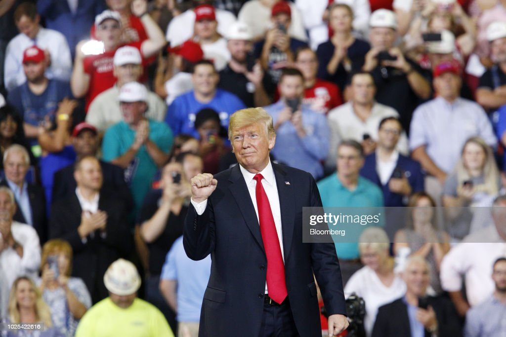 President Trump Holds Rally In Support Of U.S. Senate Candidate Mike Braun : News Photo