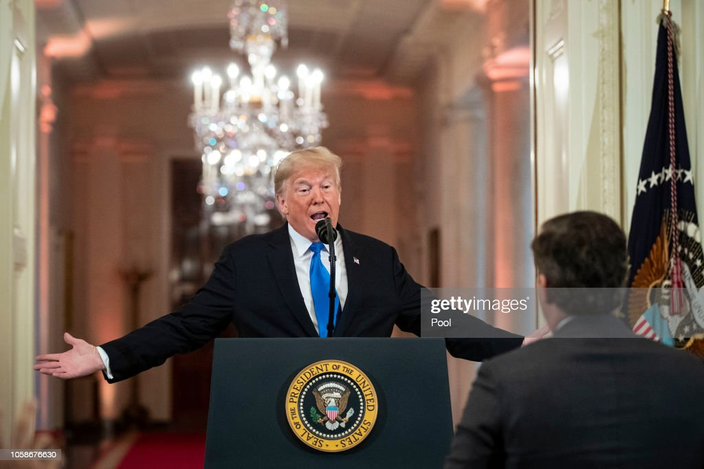 President Trump Holds News Conference Day After Midterm Elections : News Photo
