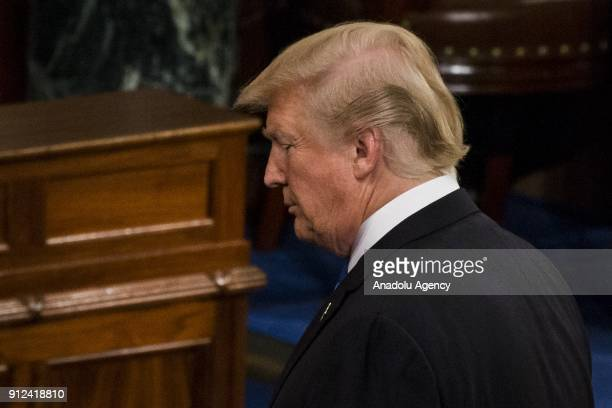 President Donald Trump gives his first State of the Union address to Congress and the country in Washington United States on January 30 2018