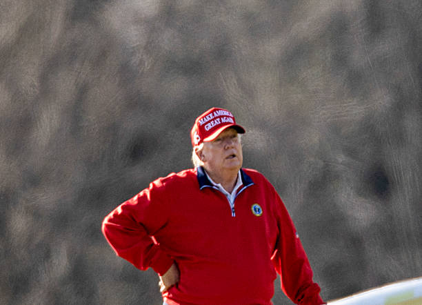 VA: President Trump Golfs In Sterling, Virginia On Thanksgiving Day