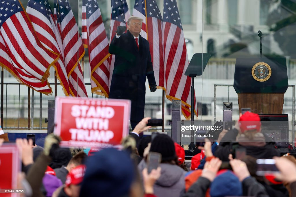"Trump Supporters Hold ""Stop The Steal"" Rally In DC Amid Ratification Of Presidential Election : News Photo"