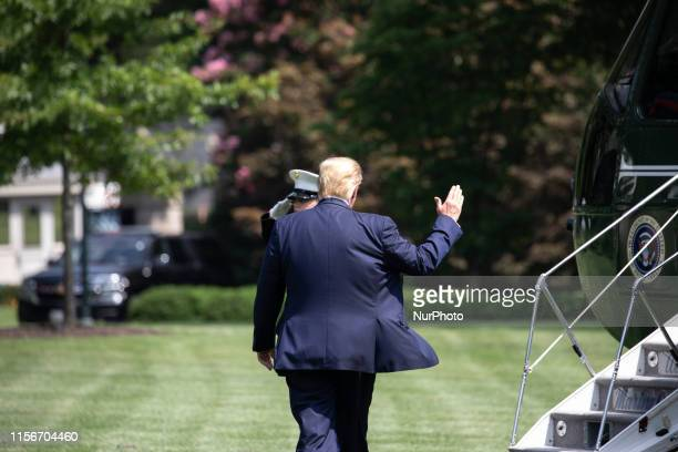 US President Donald Trump heads to Marine One for departure from the South Lawn of the White House in Washington DC on Friday July 19 2019