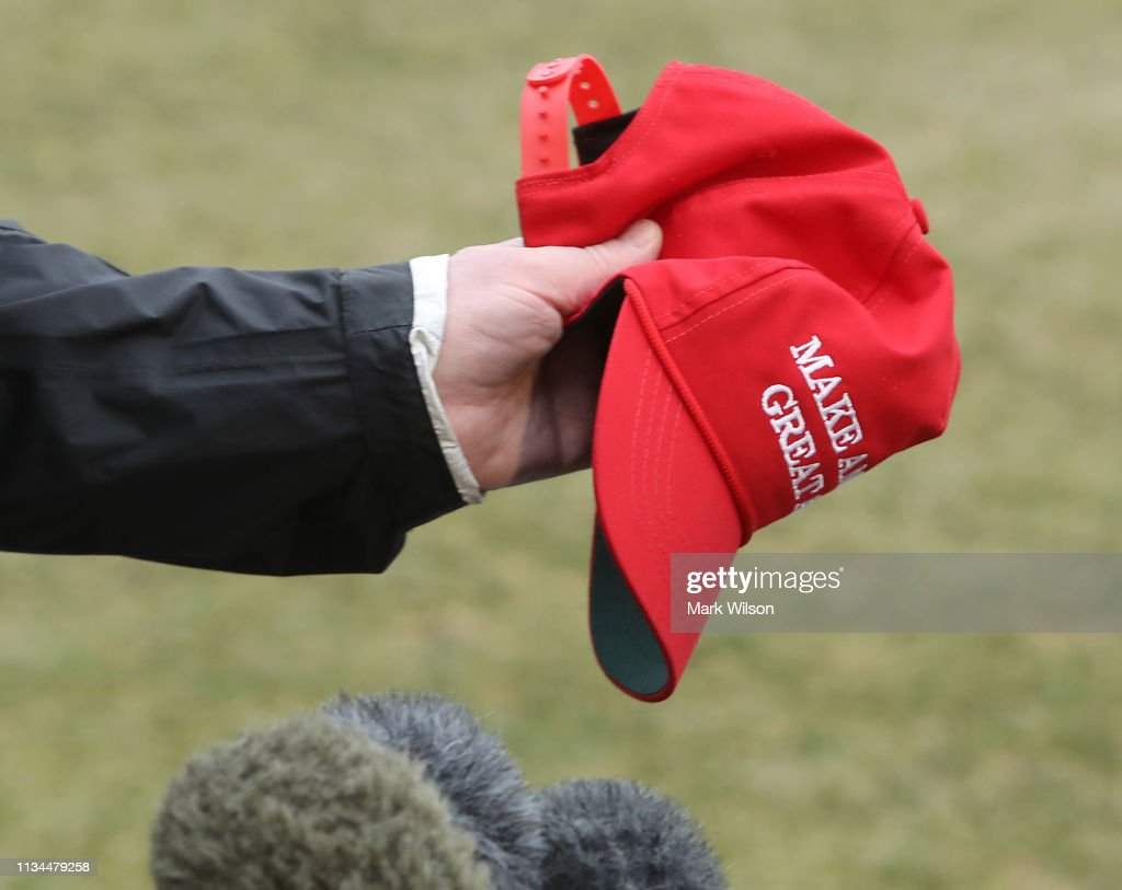 President Donald Trump Departs White House To Survey Alabama Tornado Damage : News Photo