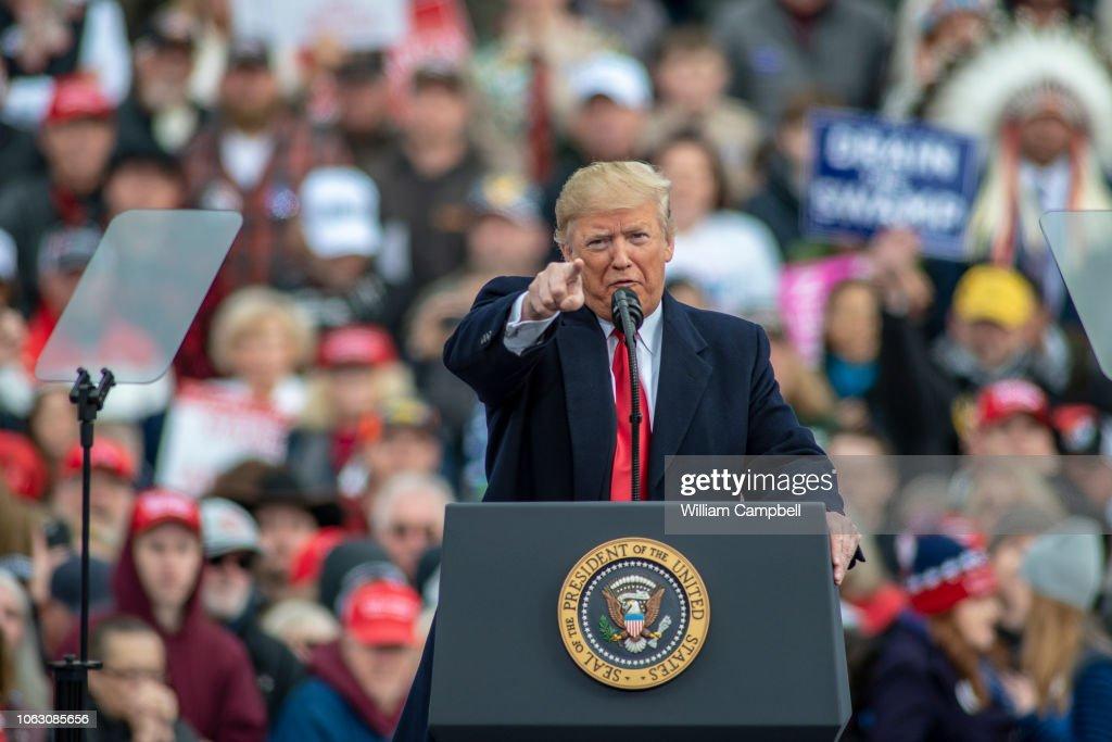 Donald Trump Holds MAGA Rally In Montana With Sen. Candidate  Matt Rosendale : News Photo