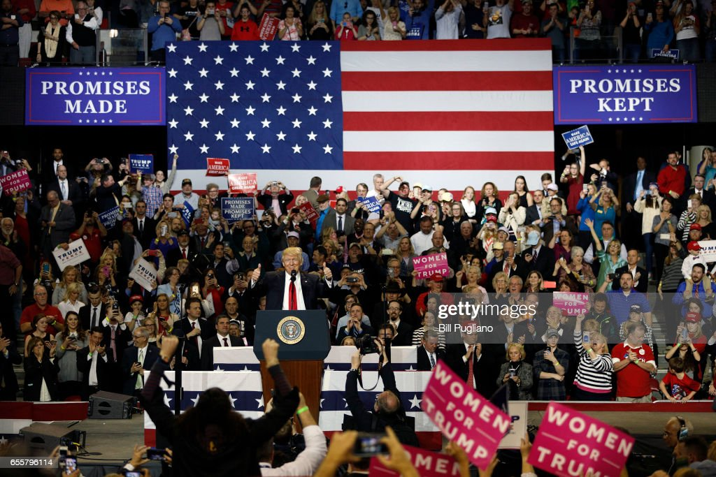 Donald Trump Holds Political Rally In Louisville : News Photo