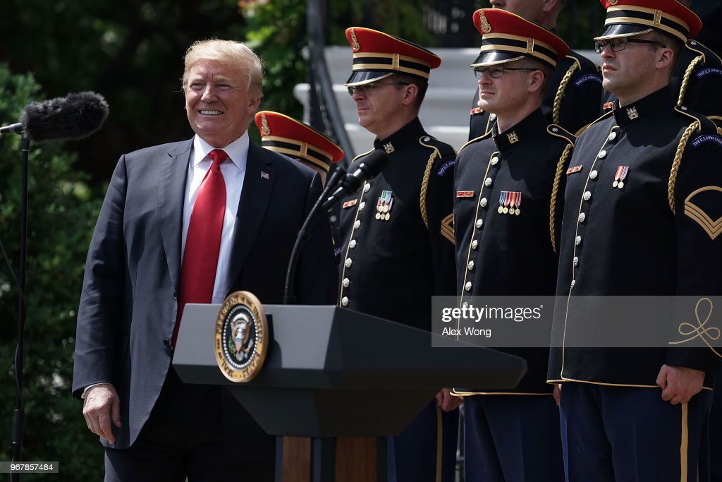 President Trump Holds 'Celebration Of America' Event On South Lawn Of White House : News Photo