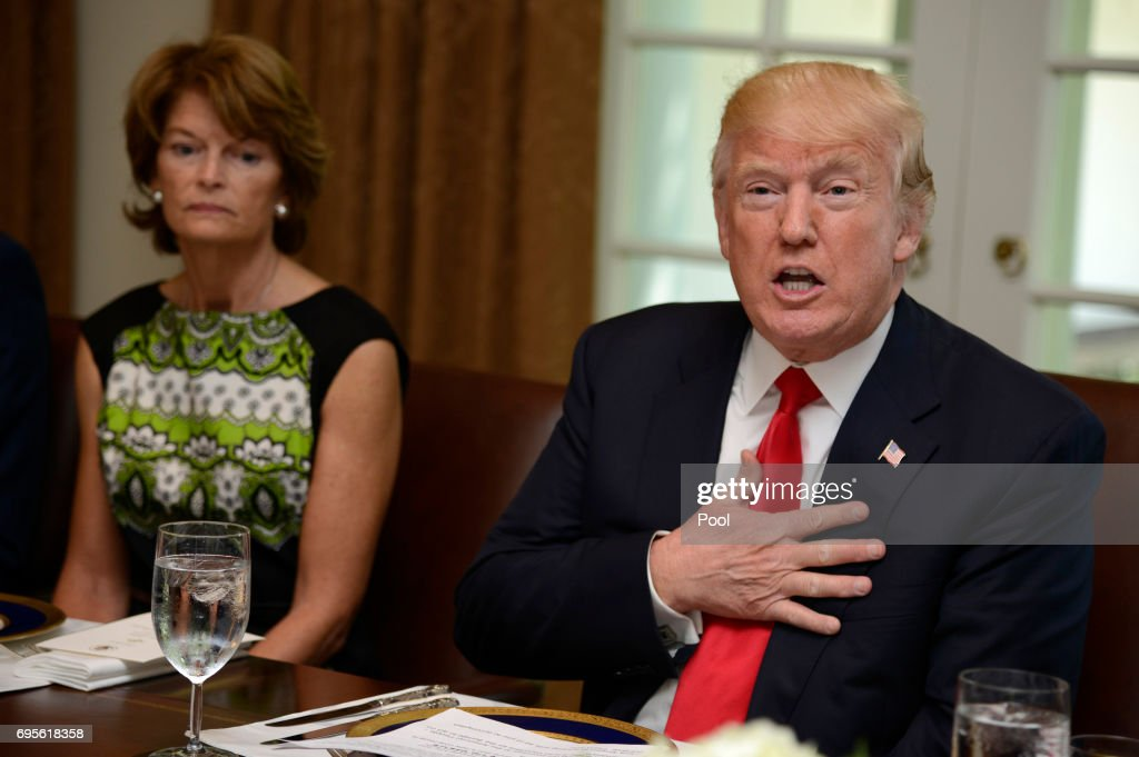 President Trump Hosts Lunch for Congressional Members at White House : News Photo