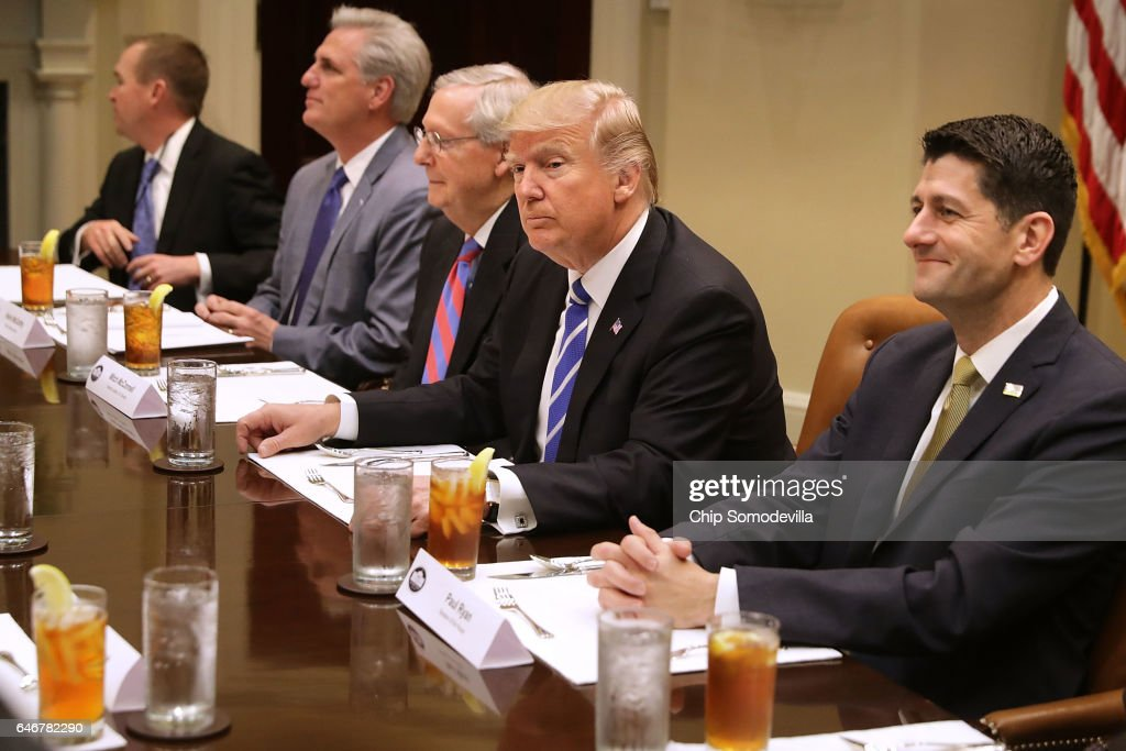 President Trump Hosts Lunch With House And Senate Leadership At White House : News Photo