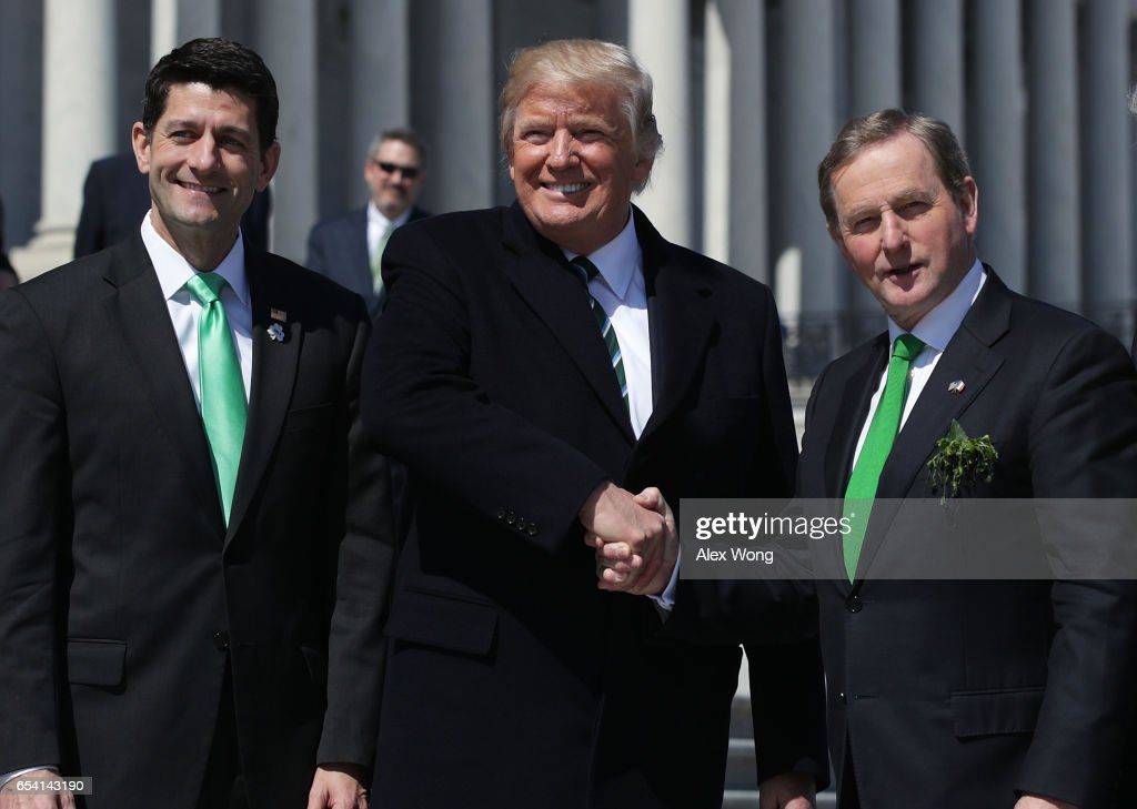 Trump, Paul Ryan Attend Traditional Congressional Luncheon For Irish PM : News Photo