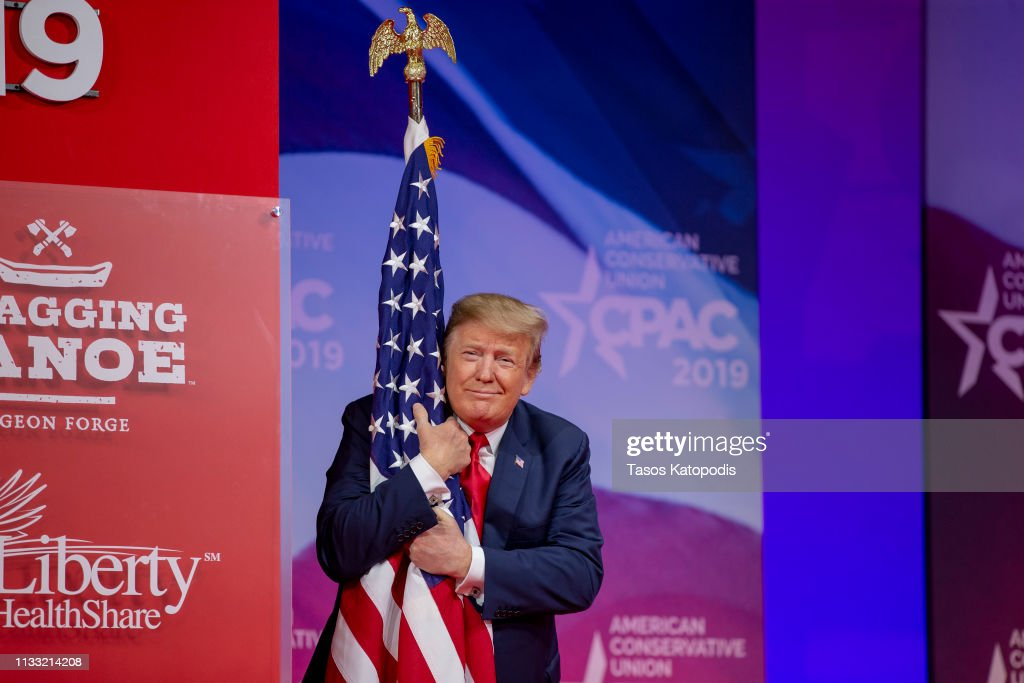 President Trump Addresses Conservative Political Action Conference : News Photo