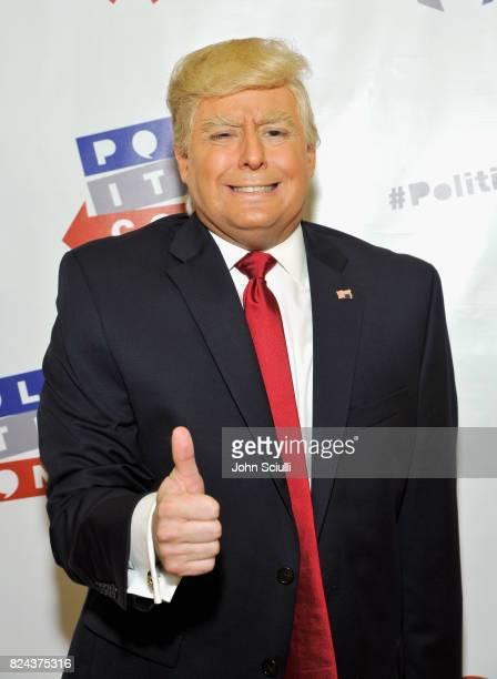 President Donald Trump impersonator Anthony Atamanuik at Politicon at Pasadena Convention Center on July 29 2017 in Pasadena California