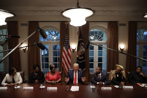 DC: President Trump Meets With African American Leaders In The Cabinet Room