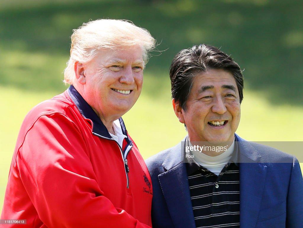 U.S. President Trump Makes State Visit To Japan : ニュース写真
