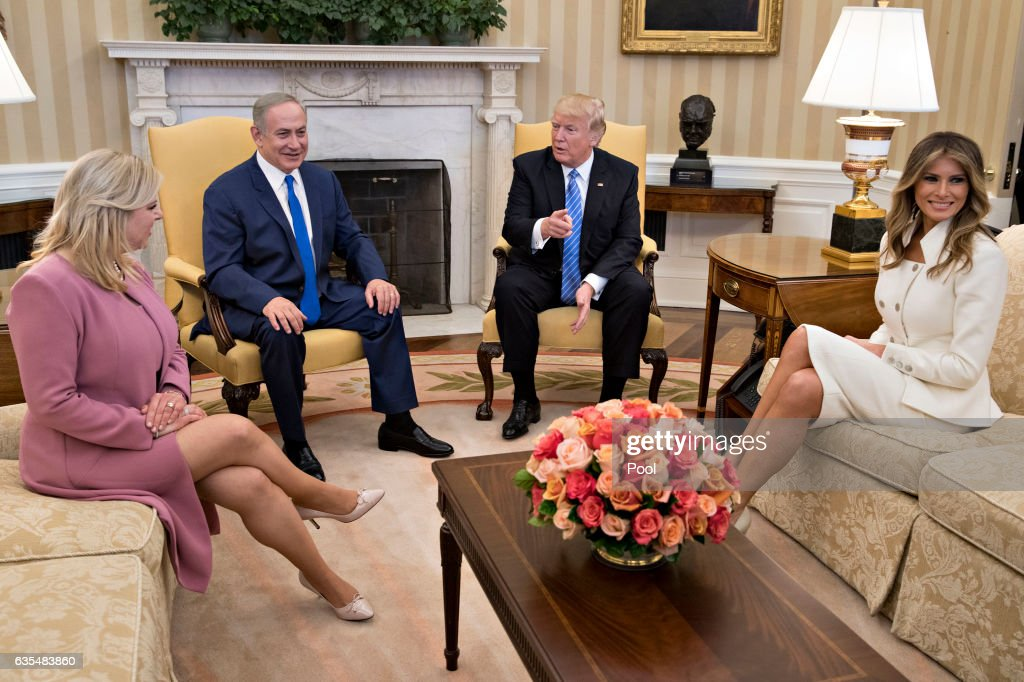 President Trump Meets With Israeli Prime Minister Benjamin Netanyahu At The White House : News Photo