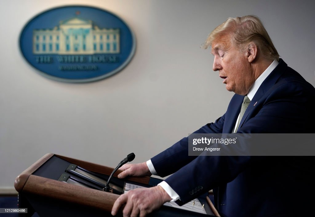Coronavirus Task Force Briefs Press At White House : News Photo