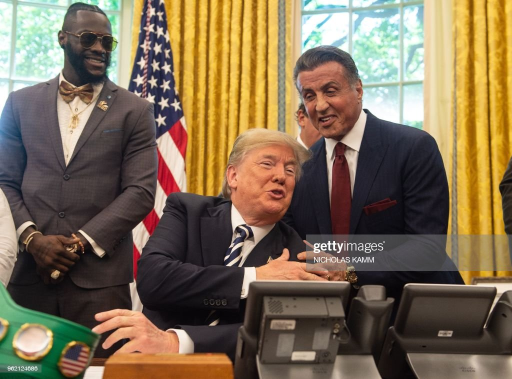 US-POLITICS-TRUMP-BOXING : News Photo