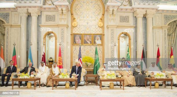 US President Donald Trump King of Saudi Arabia Salman bin Abdulaziz Al Saud The Crown Prince of Abu Dhabi General Sheikh Mohammed Bin Zayed Al Nahyan...