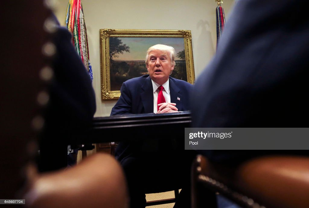 U.S. President Donald Trump leads a listening session with health insurance company CEO's in the Roosevelt Room of the White House, February 27, 2017 in Washington, DC. Trump vowed to fix the problems with the Affordable Care Act.