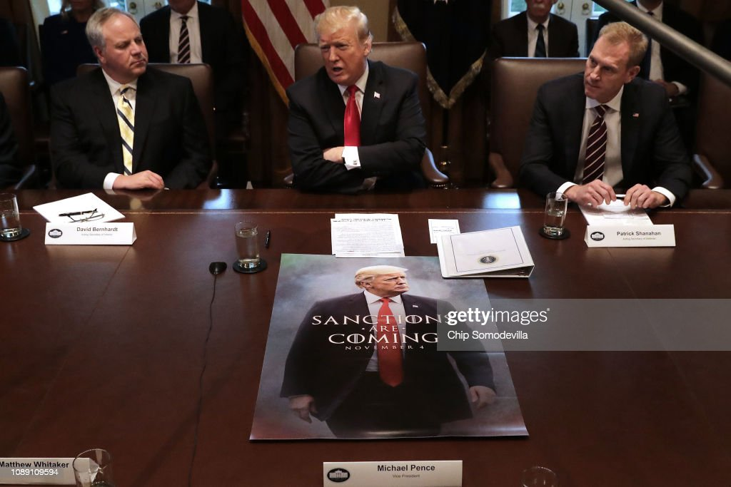 President Trump holds Cabinet Meeting At The White House : News Photo