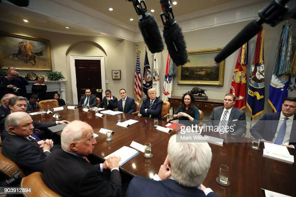 Trump Round Table.15 President Trump Holds Roundtable On Prison Reform In Roosevelt
