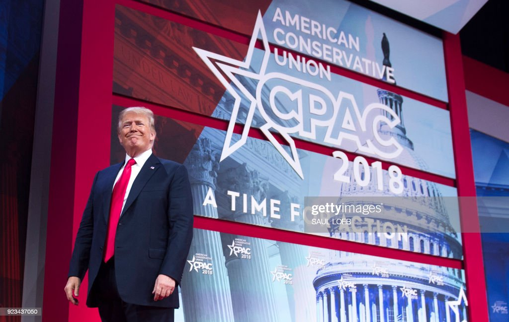 US-POLITICS-TRUMP-CPAC : News Photo