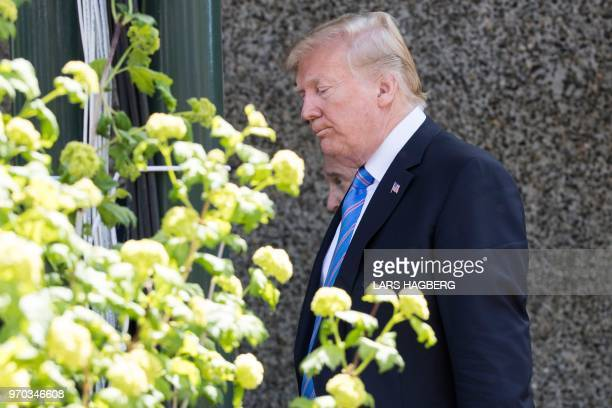 US President Donald Trump leaves the G7 summit in La Malbaie Quebec June 9 2018