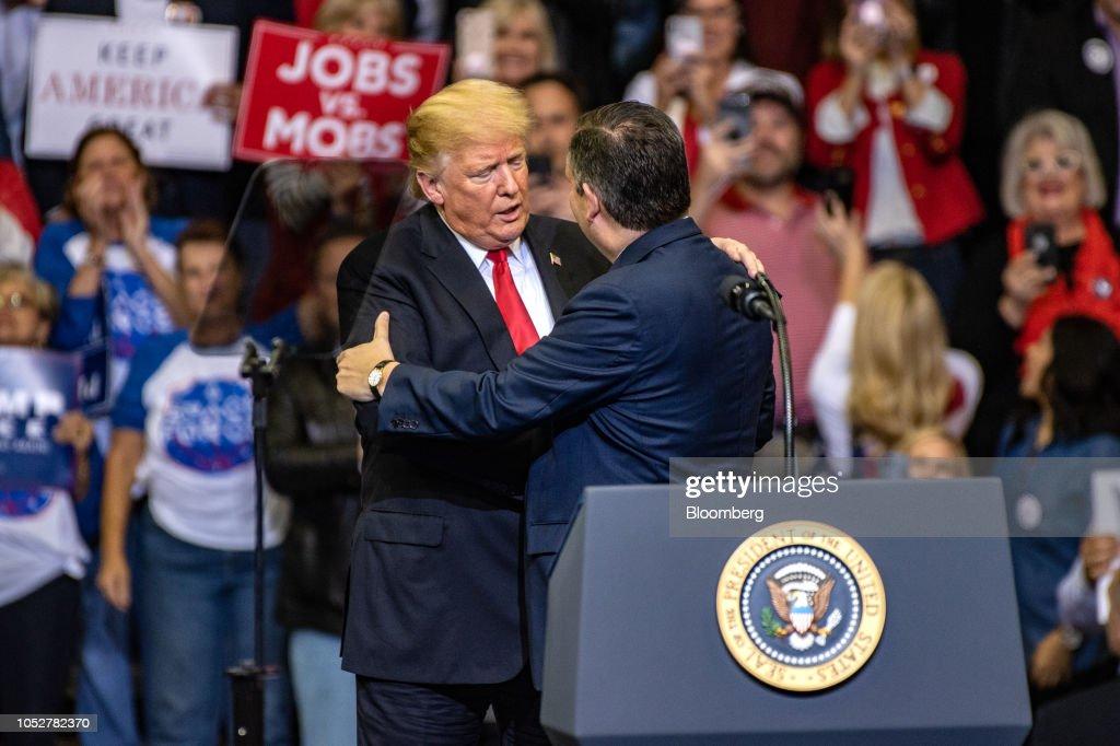 President Trump Holds Rally With Senator Ted Cruz : News Photo