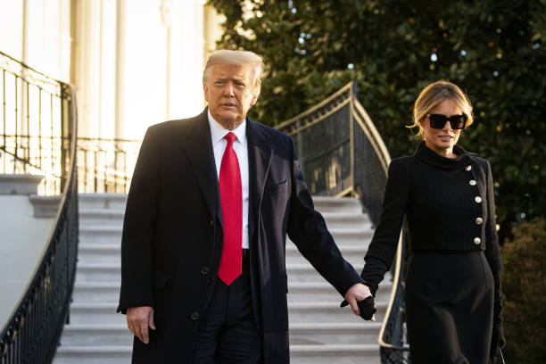DC: President Trump Departs White House Ahead Of Inauguration Ceremonies