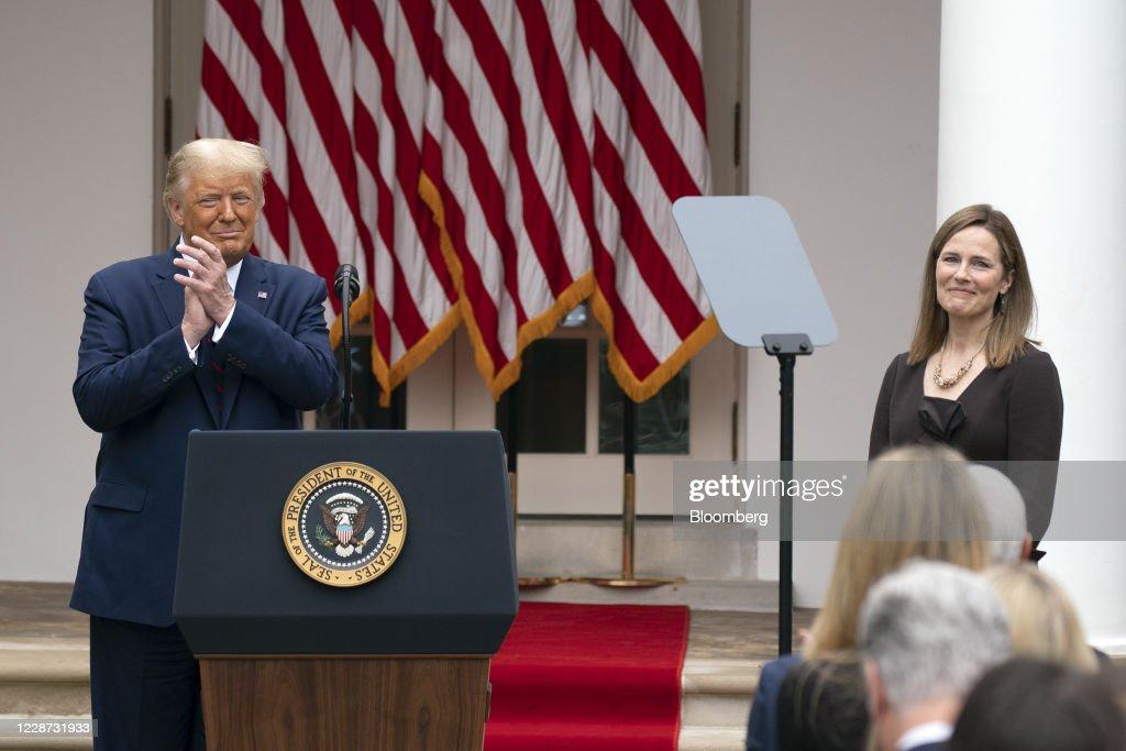 President Trump Announces His Supreme Court Justice Nominee : News Photo