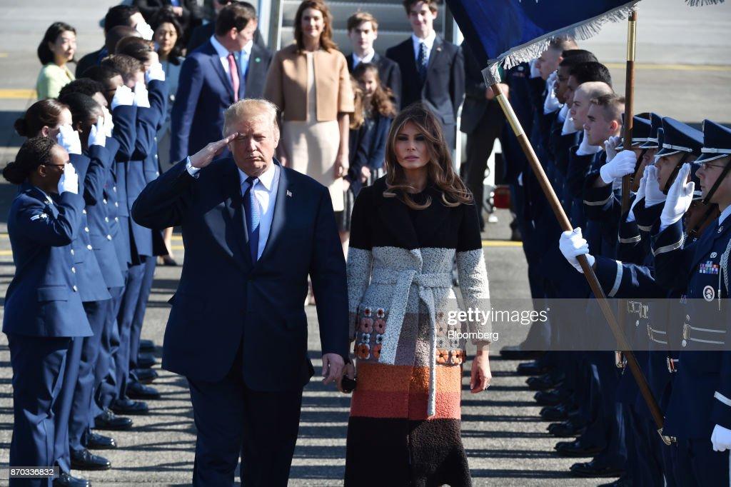 U.S. President Donald Trump In Japan : News Photo
