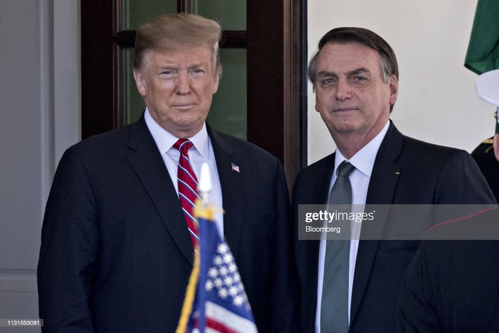 DC: President Trump Hosts Brazilian President Jair Bolsonaro At White House
