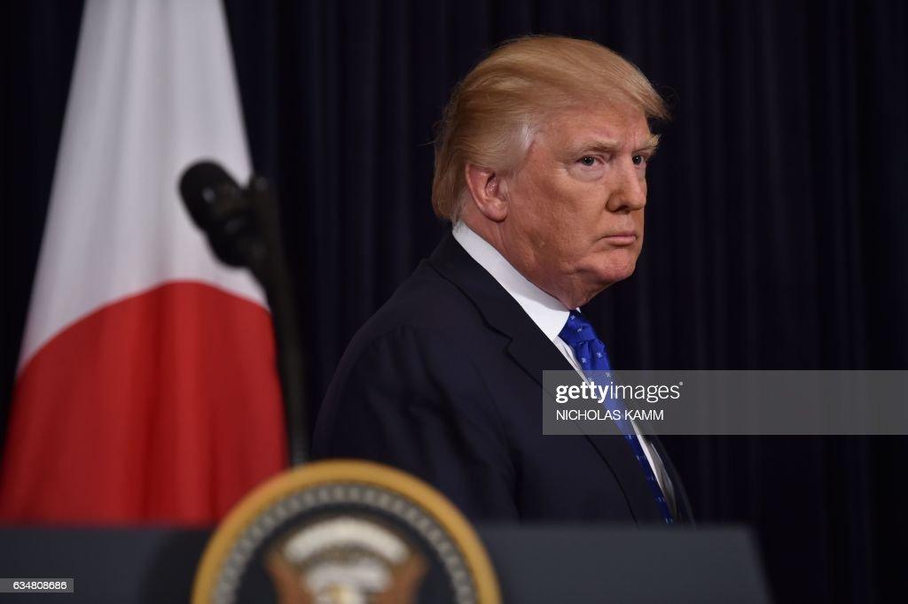 US-JAPAN-DIPLOMACY-TRUMP-ABE : News Photo