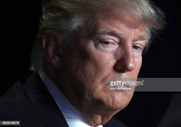 US President Donald Trump listens to remarks at the National Prayer Breakfast February 2 2017 in Washington DC Every US president since Dwight...