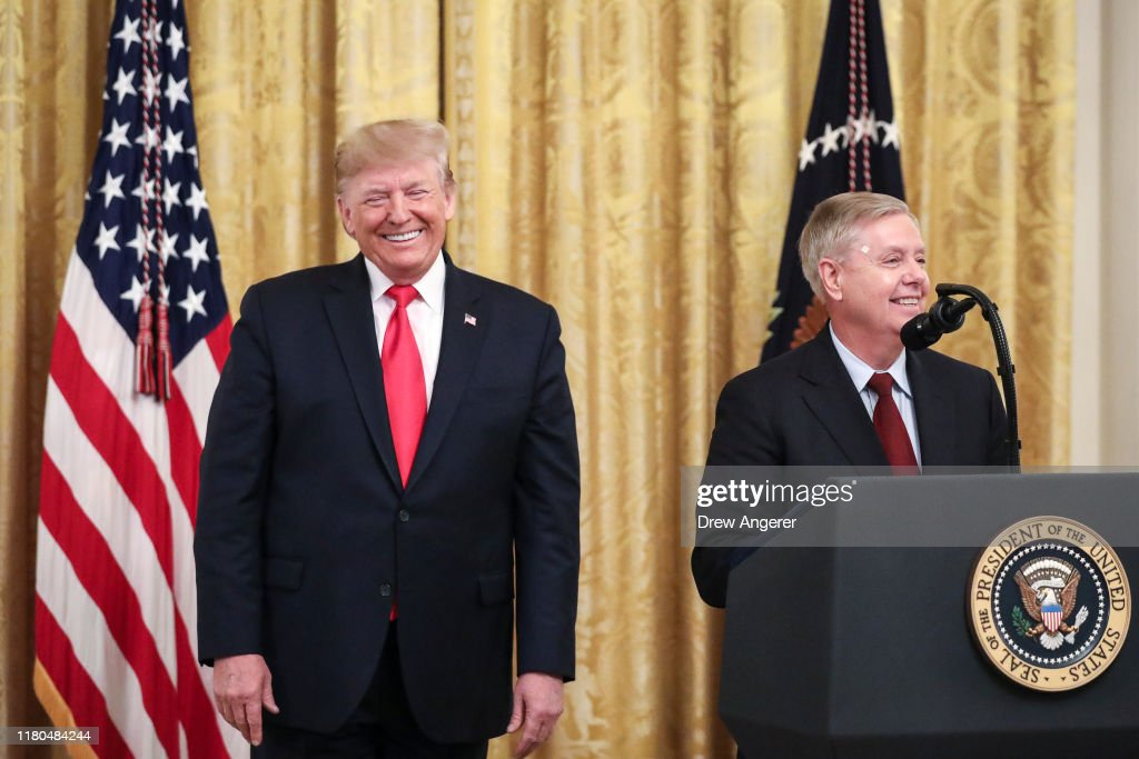 President Trump Delivers Remarks On Federal Judicial Confirmation Milestones : News Photo