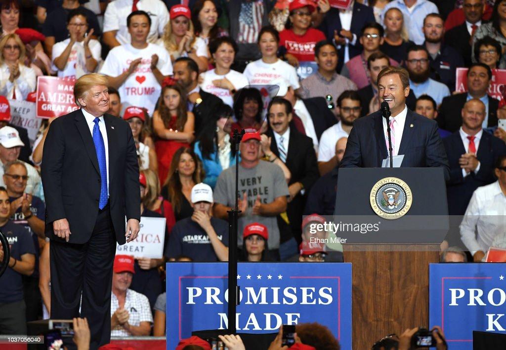 President Trump Holds MAGA Rally In Las Vegas : News Photo