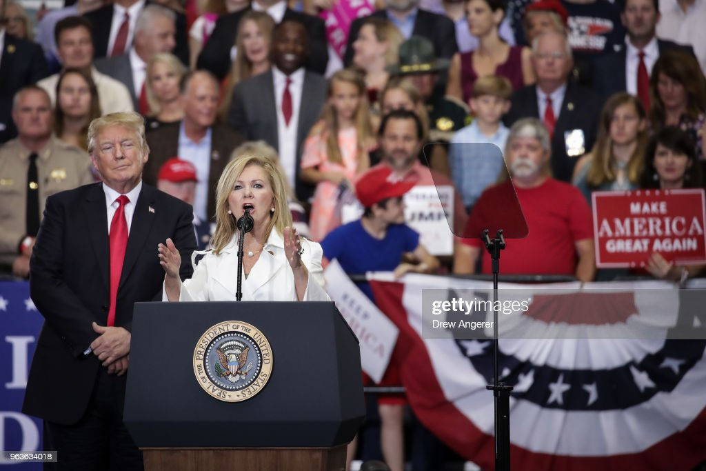 President Trump Holds Rally In Nashville, Tennessee : News Photo