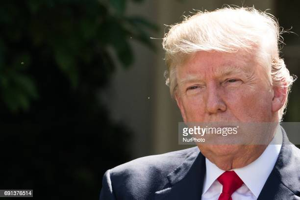 President Donald Trump made the statement that the United States is withdrawing from the Paris Climate Accord in the Rose Garden of the White House...