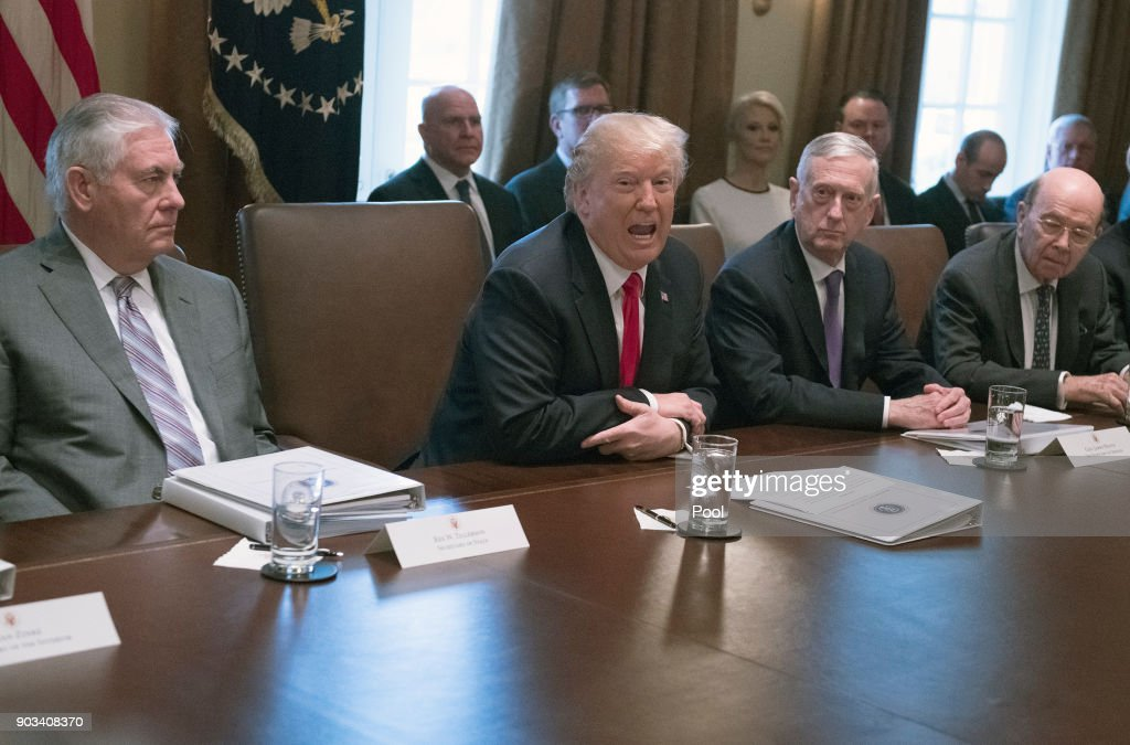 Us President Donald Trump Makes Opening Remarks As He Holds A