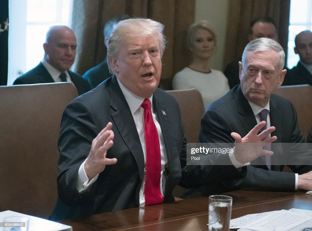 President Trump Cabinet Meeting : News Photo