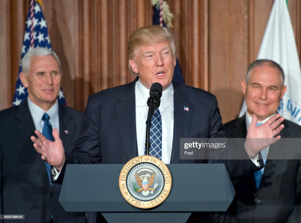 President Trump Signs Energy Independence Executive Order : News Photo
