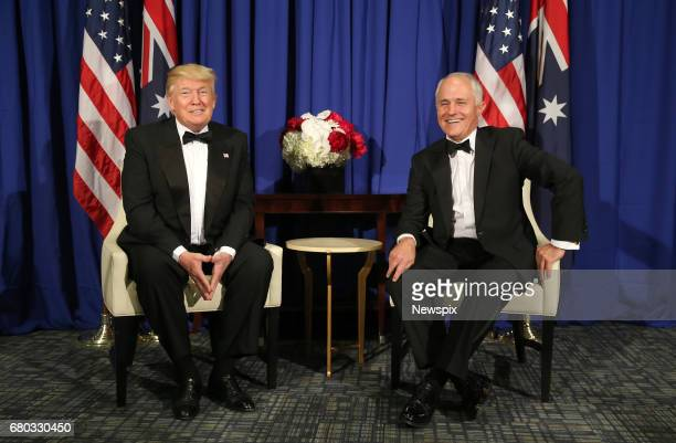 YORK USA US President Donald Trump meets with Australian Prime Minister Malcolm Turnbull during a bilateral meeting on the USS Intrepid in New York...