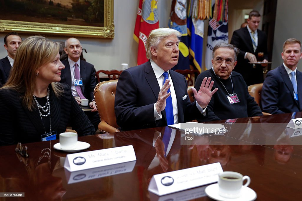 President Trump Hosts Meeting With The CEO's Of Big Three U.S. Automakers